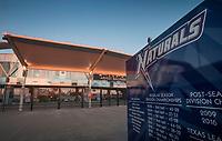 NWA Democrat-Gazette/BEN GOFF @NWABENGOFF<br /> The sun sets Thursday, Feb. 8, 2018, at Arvest Ballpark in Springdale.