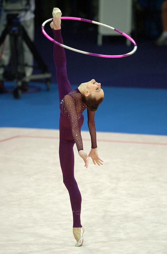 Sep 29, 2000; Sydney, Australia:<br /> TAMARA YEROFEEVA of Ukraine performs hoop during rhythmic gymnastics qualifying at 2000 Summer Olympics.