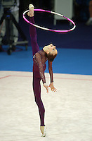 Sep 29, 2000; Sydney, Australia:<br /> TAMARA YEROFEEVA of Ukraine performs hoop during rhythmic gymnastics qualifying at 2000 Summer Olympics.