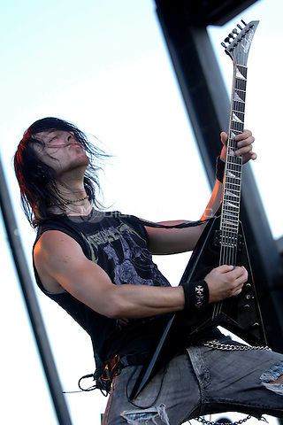 SUNRISE FL, SEPTEMBER 30TH  2006.                       <br /> Bullet For My Valentine performing at 93.1 Rock end of summer concert held at Markam Park in Sunrise FL, September 30, 2006.  Credit: mpi04 /MediaPunch.<br /> <br /> people: Matt Tuck of Bullet For My Valentine.