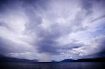 Rainstorm at Iris Strait, Kaimana area, Papua.