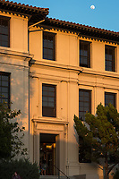 Johnson Hall at sunset on the Occidental College campus, March 28, 2018.<br /> (Photo by Marc Campos, Occidental College Photographer)