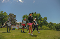 Perrine Delacour (FRA) and Cheyenne Woods (USA) depart the 13th tee box during round 1 of  the Volunteers of America Texas Shootout Presented by JTBC, at the Las Colinas Country Club in Irving, Texas, USA. 4/27/2017.<br /> Picture: Golffile | Ken Murray<br /> <br /> <br /> All photo usage must carry mandatory copyright credit (&copy; Golffile | Ken Murray)