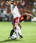 Spain's Koke Resurrecion and Georgia's Chanturia during the up match between Spain and Georgia before the Uefa Euro 2016.  Jun 07,2016. (ALTERPHOTOS/Rodrigo Jimenez)