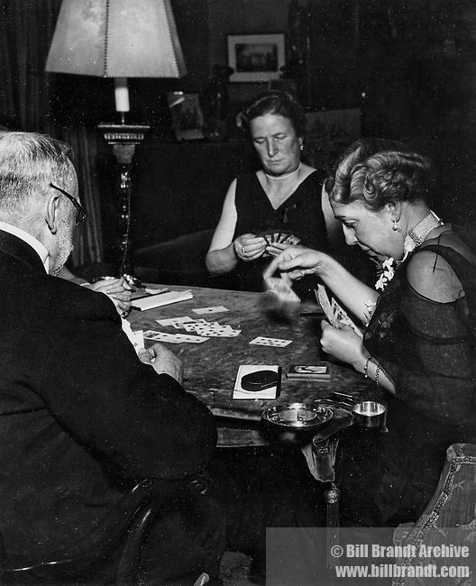 Men and women play Bridge 1930s