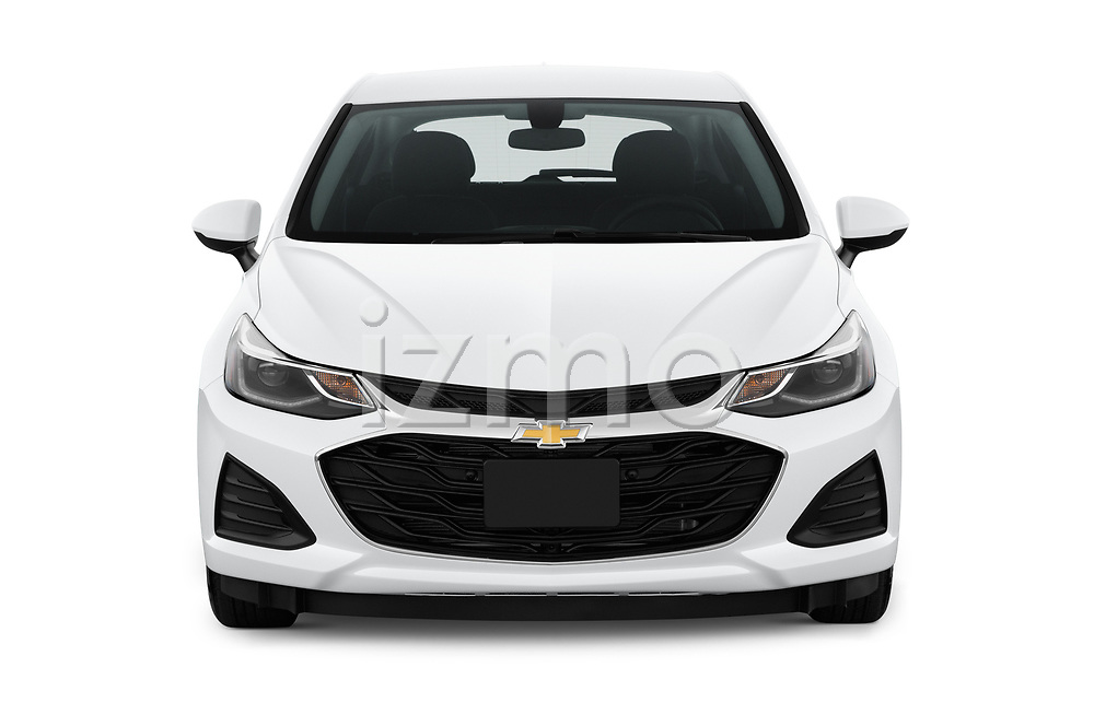 Car photography straight front view of a 2019 Chevrolet Cruze LT 5 Door Hatchback Front View