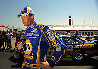 Apr 25, 2009; Talladega, AL, USA; NASCAR Sprint Cup Series driver Michael Waltrip during qualifying for the Aarons 499 at Talladega Superspeedway. Mandatory Credit: Mark J. Rebilas-