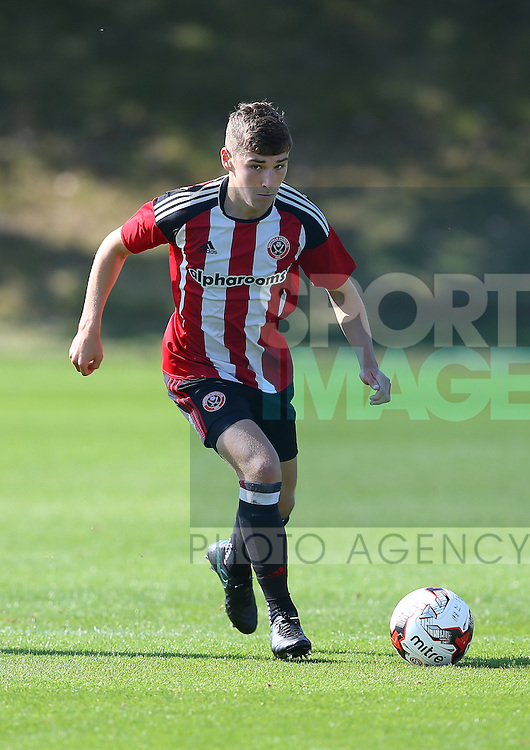 Alex Brown of Sheffield Utd during the Professional Development League Two match at Shirebrook Training Complex, Sheffield. Picture date: September 13th, 2016. Pic Simon Bellis/Sportimage