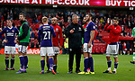Chris Wilder manager of Sheffield Utd consoles Jack O'Connell of Sheffield Utd during the Championship match at the Riverside Stadium, Middlesbrough. Picture date: August 12th 2017. Picture credit should read: Simon Bellis/Sportimage