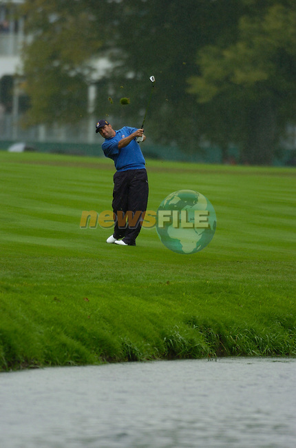 Ryder Cup K Club Straffin Co Kildare..European Ryder Cup Team player Jose Maria Olazabal on the 17th fairway during the morning fourball session of the second day of the 2006 Ryder Cup at the K Club in Straffan, County Kildare, in the Republic of Ireland, 23 September, 2006..Photo: Barry Cronin/ Newsfile.<br />