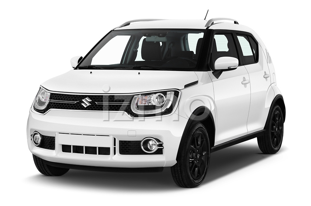 2018 Suzuki Ignis GLX 5 Door Hatchback angular front stock photos of front three quarter view