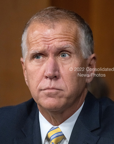United States Senator Thom Tillis (Republican of North Carolina) listens to the controversy prior to Judge Brett Kavanaugh giving testimony before the United States Senate Judiciary Committee on his nomination as Associate Justice of the US Supreme Court to replace the retiring Justice Anthony Kennedy on Capitol Hill in Washington, DC on Tuesday, September 4, 2018.<br /> Credit: Ron Sachs / CNP<br /> (RESTRICTION: NO New York or New Jersey Newspapers or newspapers within a 75 mile radius of New York City)