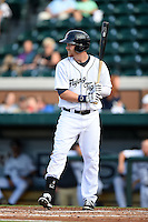 Lakeland Flying Tigers outfielder Jeff Holm (27) during a game against the Tampa Yankees on April 5, 2014 at Joker Marchant Stadium in Lakeland, Florida.  Lakeland defeated Tampa 3-0.  (Mike Janes/Four Seam Images)