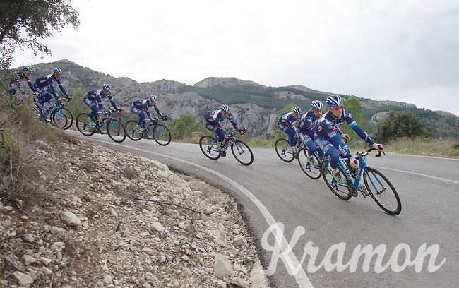 Antoine Demoitié (BEL/Wanty-Groupe Gobert) leading the way<br /> <br /> Pre-season Training Camp january 2016