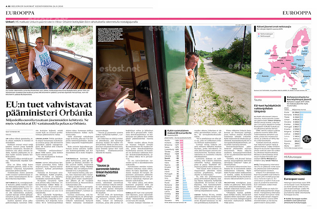 Helsingin Sanomat (leading Finnish daily) on Viktor Orbán's Felcsút railway line, August 2016<br />