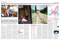 Helsingin Sanomat (leading Finnish daily) on Viktor Orb&aacute;n's Felcs&uacute;t railway line, August 2016<br />