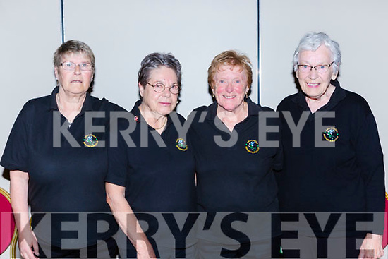 The Beaufort Hobbits team that played in the National Bowls finals in the INEC on Wednesday l-r: Sarah Peden, Gisla Gloge, Elaine Scully and Mary Grant