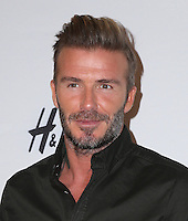 LOS ANGELES, CA - SEPTEMBER 26: David Beckham Launches New H&M Modern Essentials Campaign at H&M on September 26, 2016 in Los Angeles, California. (Credit: Parisa Afsahi/MediaPunch).