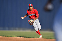 Lakewood BlueClaws second baseman Daniel Brito (21) during a game against the Asheville Tourists at McCormick Field on June 2, 2017 in Asheville, North Carolina. The Tourists defeated the BlueClaws 7-5. (Tony Farlow/Four Seam Images)