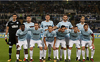 Calcio, Serie A: Roma, stadio Olimpico, 22 ottobre 2017.<br /> Lazio's players pose for the pre match photograph prior to the Italian Serie A football match between Lazio and Cagliari at Rome's Olympic stadium, October 22, 2017.<br /> UPDATE IMAGES PRESS/Isabella Bonotto