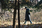 Ginny Christensen seen in the Esopus Bend Nature Preserve, in Saugerties, NY, on Thursday, November 30, 2017. Photo by Jim Peppler. Copyright/Jim Peppler-2017.