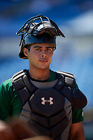 Jayden Melendez (8) of Westminster Christian School in Palmetto Bay, FL during the Perfect Game National Showcase at Hoover Metropolitan Stadium on June 19, 2020 in Hoover, Alabama. (Mike Janes/Four Seam Images)