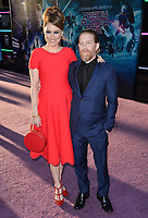 Seth Green &amp; Clare Grant at the premiere for &quot;Ready Player One&quot; at The Dolby Theatre, Los Angeles, USA 26 March 2018<br /> Picture: Paul Smith/Featureflash/SilverHub 0208 004 5359 sales@silverhubmedia.com