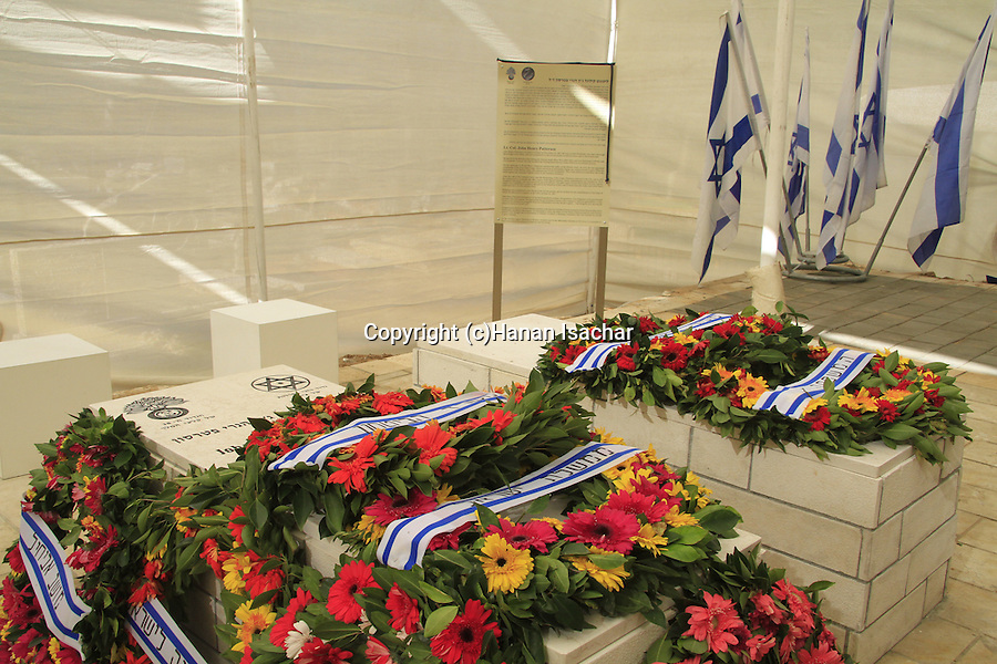 Israel, tombs of Lt Col John Henry Patterson and his wife Frances Helena at Moshav Avihayil
