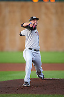 Tri-City ValleyCats starting pitcher Ryan Hartman (11) during a game against the Auburn Doubledays on August 25, 2016 at Falcon Park in Auburn, New York.  Tri-City defeated Auburn 4-3.  (Mike Janes/Four Seam Images)