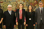 Queen Letizia of Spain meets Gypsy Secretariat Foundation representatives at Zarzuela Palace in Madrid, Spain. January 08, 2016. (ALTERPHOTOS/Victor Blanco)