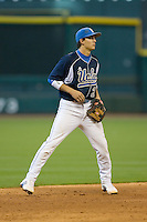 Shortstop Niko Gallego #2 on defense versus the Baylor Bears in the 2009 Houston College Classic at Minute Maid Park February 28, 2009 in Houston, TX.  The Bears defeated the Bruins 5-1. (Photo by Brian Westerholt / Four Seam Images)