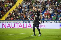 VALENCIA, SPAIN - SEPTEMBER 11: Ruben during BBVA LEAGUE match between Levante U.D. And Sevilla C.F. at Ciudad de Valencia Stadium on September 11, 2015 in Valencia, Spain