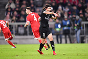 December 5th 2017, Allianze Arena, Munich, Germany. UEFA Champions league football, Bayern Munich versus Paris St Germain;  EDINSON CAVANI (psg) uste at the contact