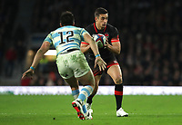 England's Alex Lozowski dodges Argentina's Santiago Gonzalez Iglesias<br /> <br /> Photographer Rachel Holborn/CameraSport<br /> <br /> International Rugby Union Friendly - Old Mutual Wealth Series Autumn Internationals 2017 - England v Argentina - Saturday 11th November 2017 - Twickenham Stadium - London<br /> <br /> World Copyright &copy; 2017 CameraSport. All rights reserved. 43 Linden Ave. Countesthorpe. Leicester. England. LE8 5PG - Tel: +44 (0) 116 277 4147 - admin@camerasport.com - www.camerasport.com