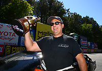 May 7, 2017; Commerce, GA, USA; NHRA pro mod driver Mike Castellana celebrates after winning the Southern Nationals at Atlanta Dragway. Mandatory Credit: Mark J. Rebilas-USA TODAY Sports