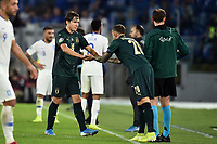 Federico Chiesa of Italy injured leaves the pitch substituted by Federico Bernardeschi of Italy <br /> Roma 12-10-2019 Stadio Olimpico <br /> European Qualifiers Qualifying round Group J <br /> Italy - Greece <br /> Photo Andrea Staccioli/Insidefoto