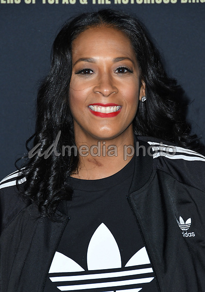 "22 February 2018 - Hollywood, California - Lyah Leflore. USA Network's ""Unsolved: The Murders of Tupac & The Notorious B.I.G."" held at Avalon Hollywood. Photo Credit: Birdie Thompson/AdMedia"