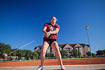 Freshman Hammer Thrower practices her throws at the Texas A&M Track and Field Complex in College Station, TX.