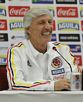 BARRANQUILLA - COLOMBIA -09-11-2016: Jose Pekerman técnico  de la Selección Colombia durante rueda de prensa en Barranquilla. Colombia se prepara para el próximo partido contra la Selección de Chile para la calificificacion a la Copa Mundo FIFA Rusia 2018. / Jose Pekerman coach of Colombia Team speaks during a press conference in Barranquilla. The Colombia Team preparing for the next game against Chile team for the qualifier to FIFA World Cup Russia 2018. Photos: VizzorImage / Luis Ramirez / Staff.