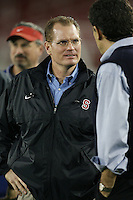 """9 February 2007: Scott Shafer during a """"Friday Night Lights"""" practice at Stanford Stadium in Stanford, CA."""