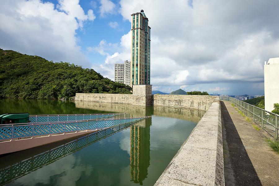 Dam Wall And Valve House, Wong Nai Chung Reservoir (1899), Hong Kong Island.