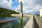 Dam wall and valve house, Wong Nai Chung Reservoir (1899), Hong Kong Island.
