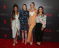 LOS ANGELES, CA - MAY 29: Logan Browning, Gillian Jacobs, June Diane Raphael and Justina Machado at the #NETFLIXFYSEE Comediennes: In Conversation Event at NETFLIX FYSEE Raleigh Studios in Los Angeles, California on May 29, 2018. <br /> CAP/MPI/FS<br /> &copy;FS/MPI/Capital Pictures