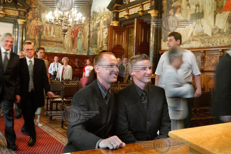 Gay marriage ceremony.