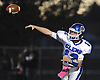 Kyle Tiernan #12, Glenn quarterback, throws a pass during a Suffolk County Division IV varsity football game against host Babylon High School on Friday, Oct. 21, 2016