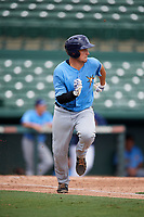 Tampa Bay Rays catcher Chris Betts (26) runs to first base during an Instructional League game against the Baltimore Orioles on October 2, 2017 at Ed Smith Stadium in Sarasota, Florida.  (Mike Janes/Four Seam Images)