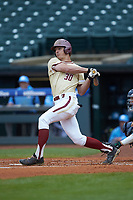 Donovan Casey (30) of the Boston College Eagles follows through on his swing against the North Carolina Tar Heels in Game Five of the 2017 ACC Baseball Championship at Louisville Slugger Field on May 25, 2017 in Louisville, Kentucky. The Tar Heels defeated the Eagles 10-0 in a game called after 7 innings by the Mercy Rule. (Brian Westerholt/Four Seam Images)