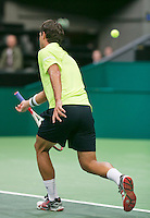 10-02-14, Netherlands,Rotterdam,Ahoy, ABNAMROWTT,, ,  Jesse Huta Galung(NED) and Michael Berrer(GER)<br /> Photo:Tennisimages/Henk Koster