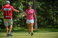 Emma Talley (USA) after sinking her putt on 1 during round 4 of the U.S. Women's Open Championship, Shoal Creek Country Club, at Birmingham, Alabama, USA. 6/3/2018.<br /> Picture: Golffile | Ken Murray<br /> <br /> All photo usage must carry mandatory copyright credit (&copy; Golffile | Ken Murray)