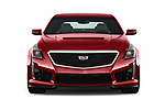 Car photography straight front view of a 2016 Cadillac CTS V V 4 Door Sedan Front View